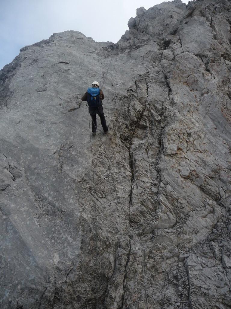 Abseilen vom Gipfel
