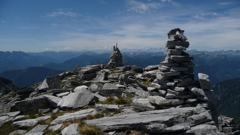 auf dem Madom da Sgióf und Monte Rosa im Hintergrund