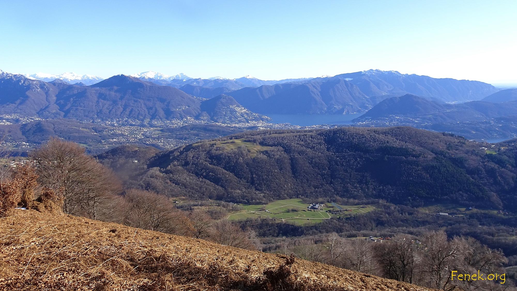 Ausblick vom Torri zum Monte Generoso und Lugano