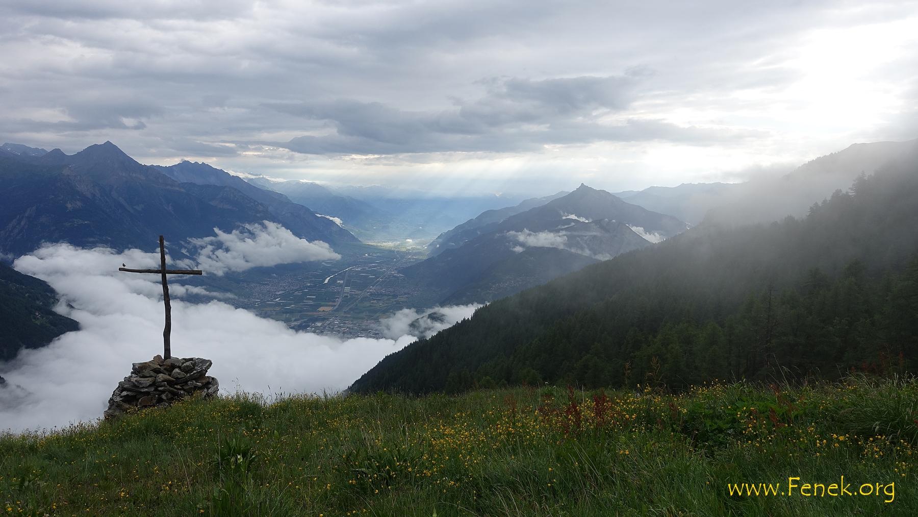 Morgenstund auf der Alp Les Prélayes