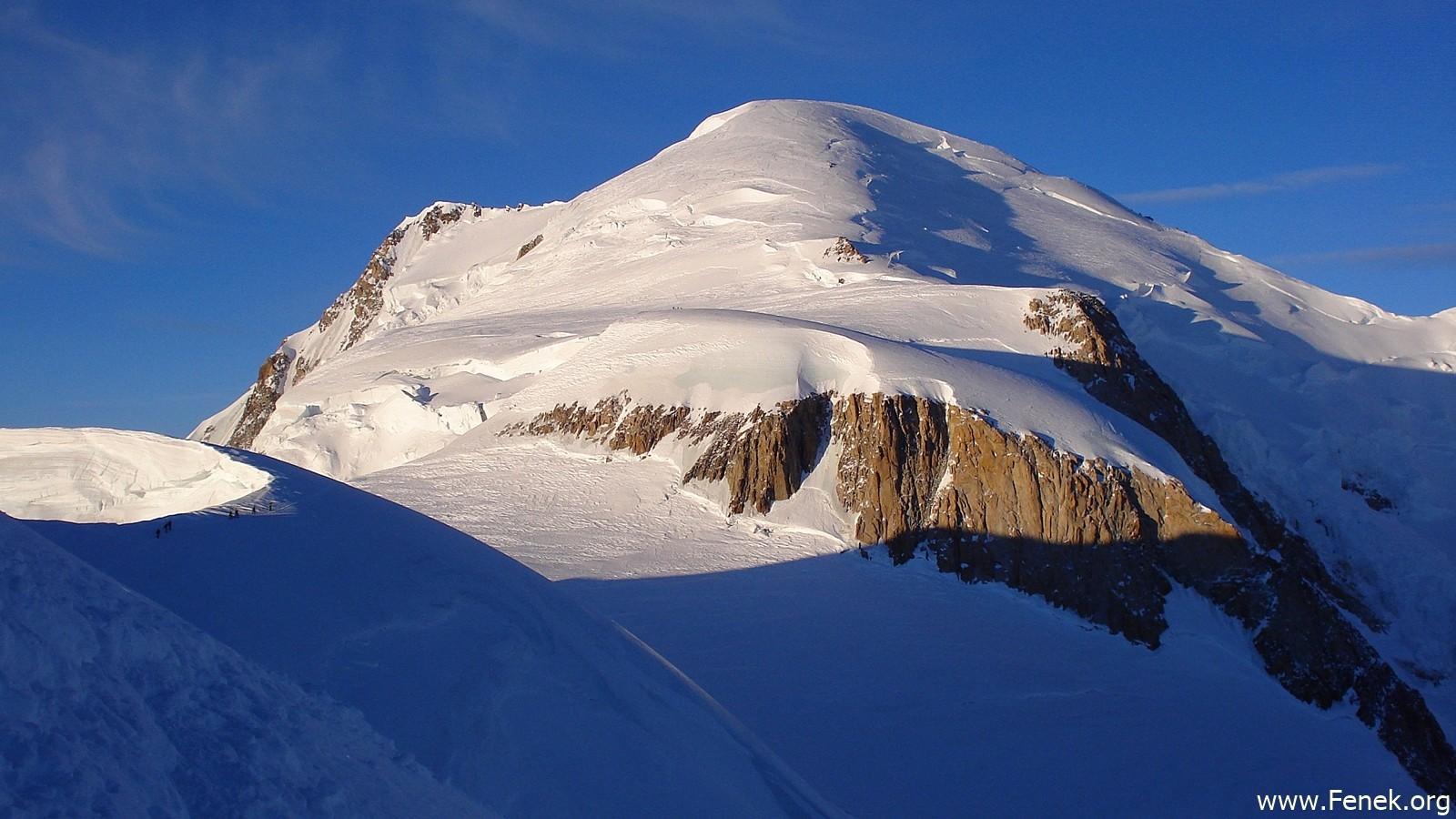 der Mont Blanc vor uns.....