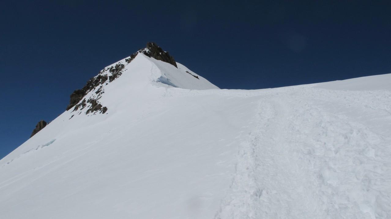 Aufstieg zur Zumsteinspitze