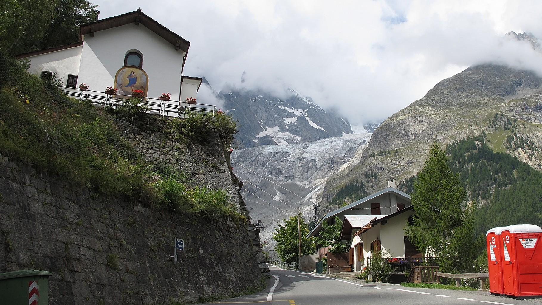 Visaille - bis hier kam einmal der Gletscher