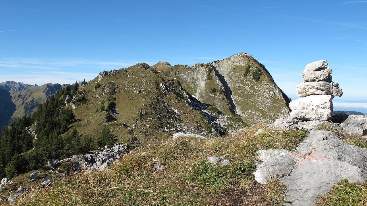 auf dem Gipfel von Chatz u Mus