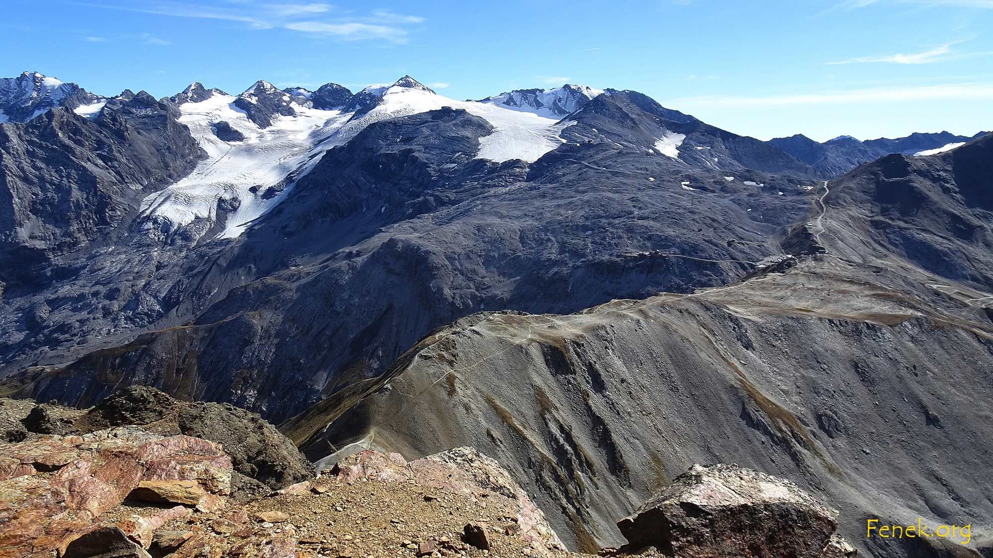Gipfelblick zum Aufstiegsweg