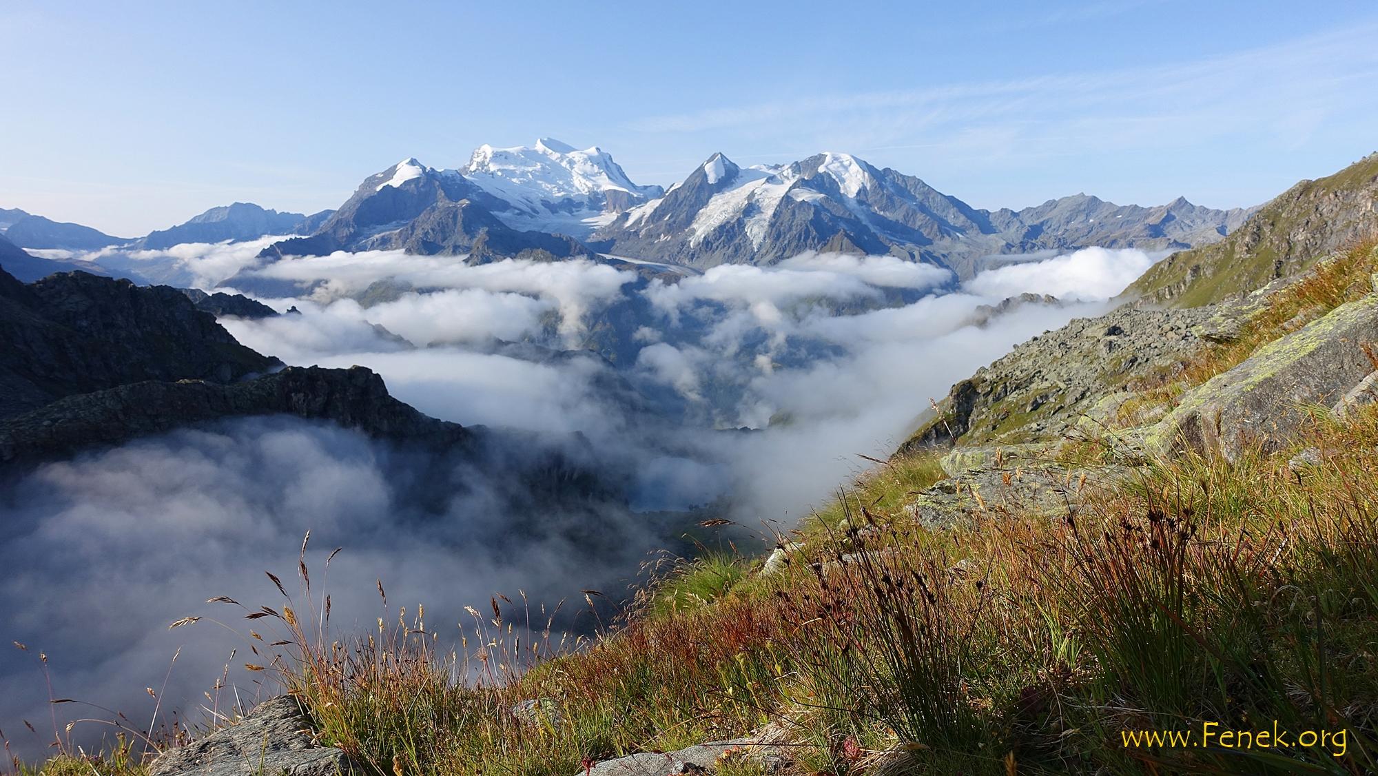 welch ein Anblick!! - Grand Combin und viele weitere Berge