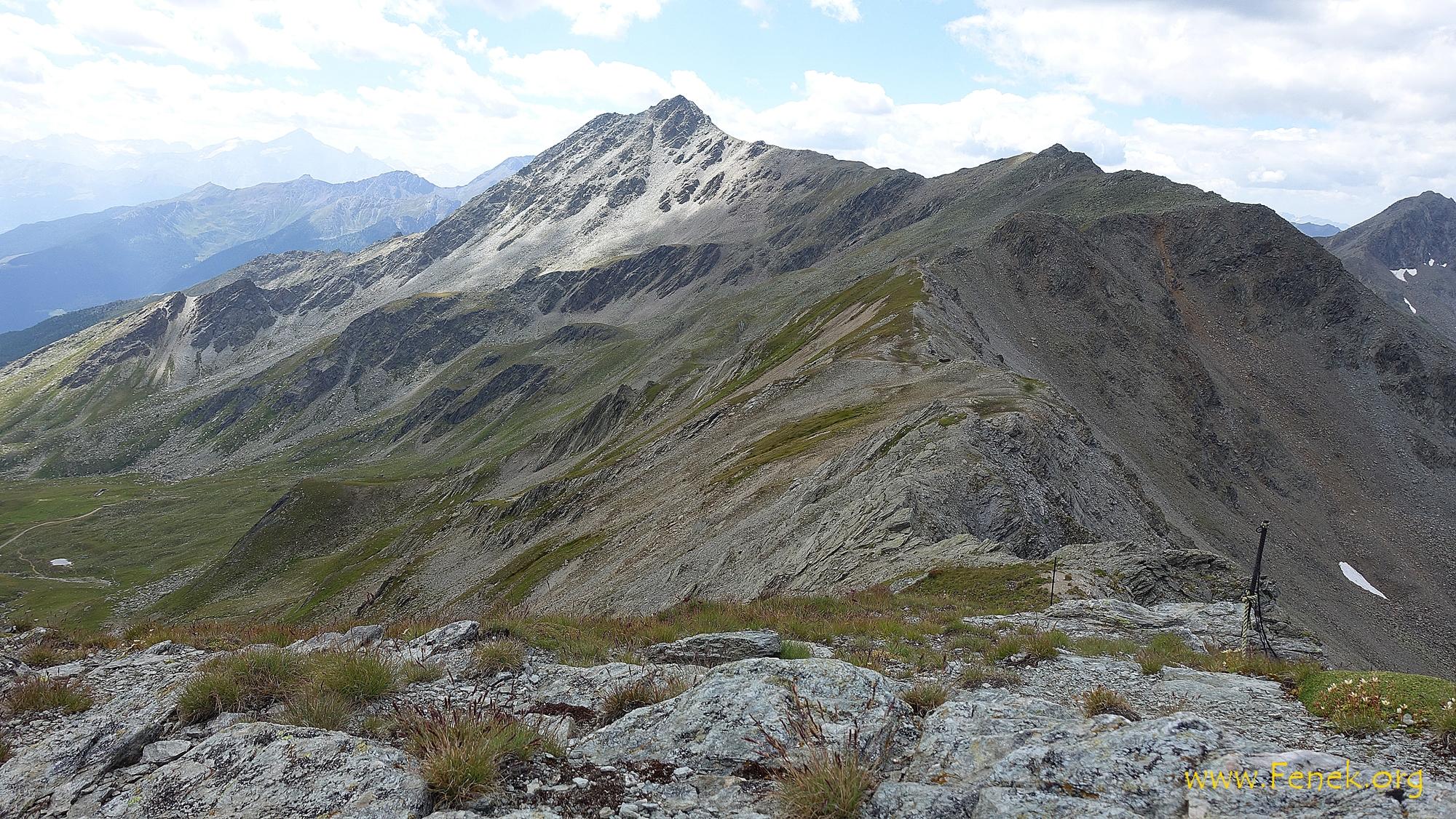 zurück beim Col Nord de Menouve - vor mir Aréte de Tcholeire