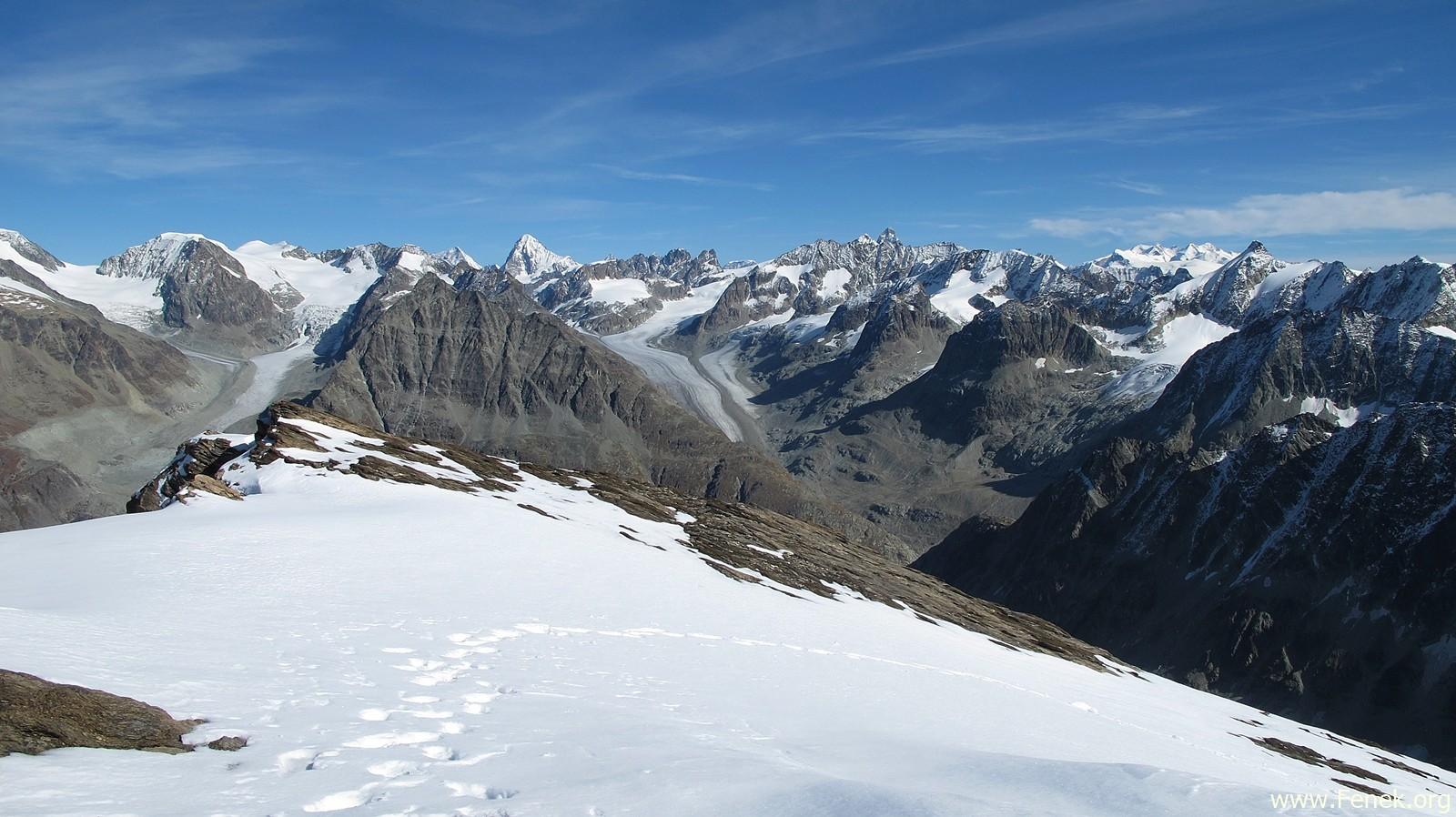 Walliser Berge (Monte Rosa ganz rechts)