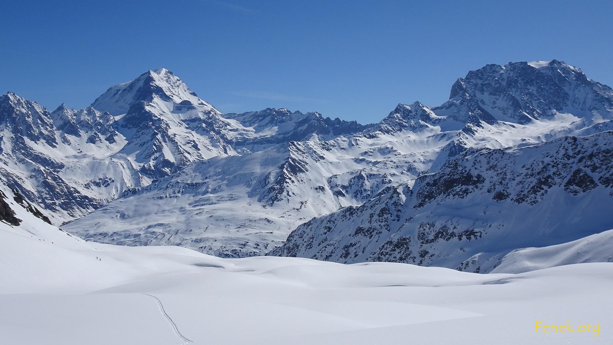 die beiden Dominatoren - Grand Combin und Mont Velan