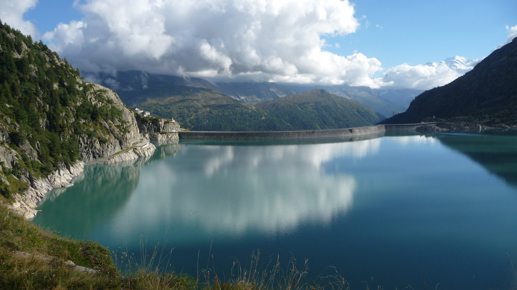 Lac d'Emosson mit Staumauer