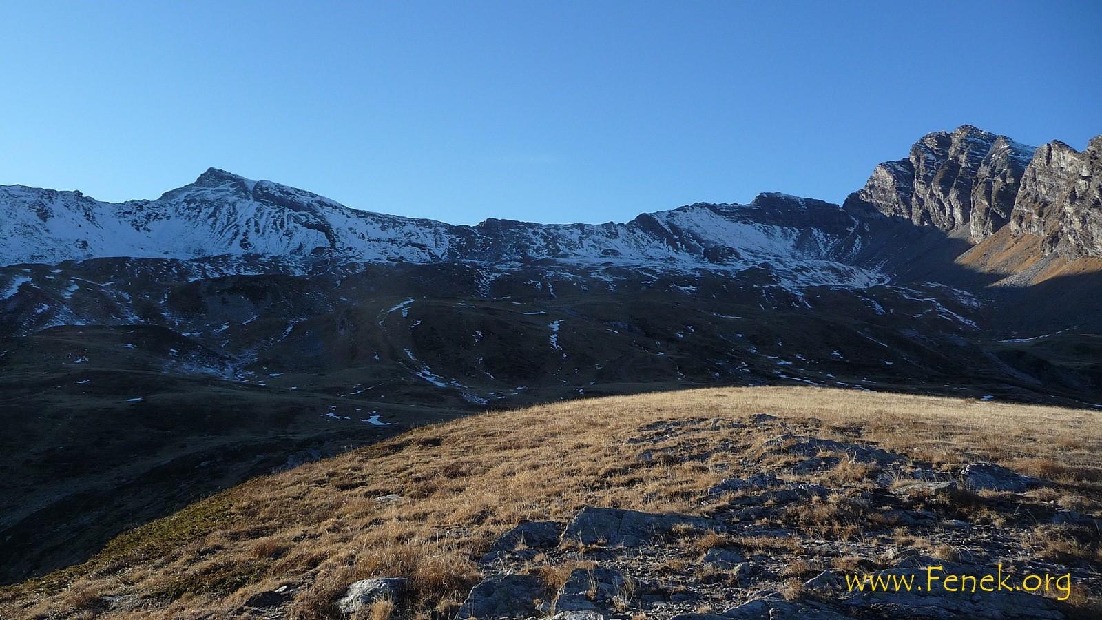 nochmal ein letzter Blick zum Gipfel des Tages mit dem langen Nordgrat