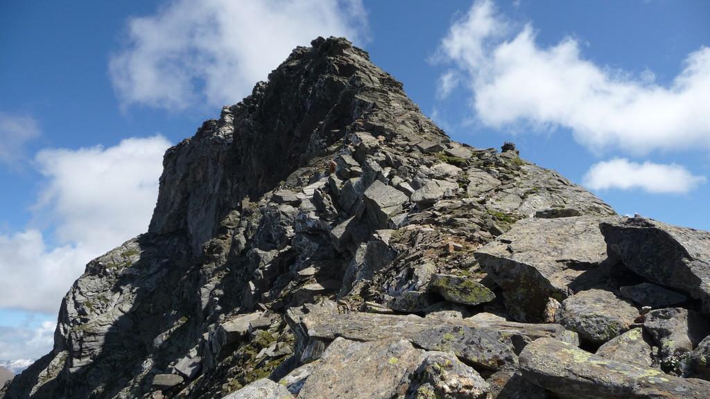 hier beginnt die Kletterei....