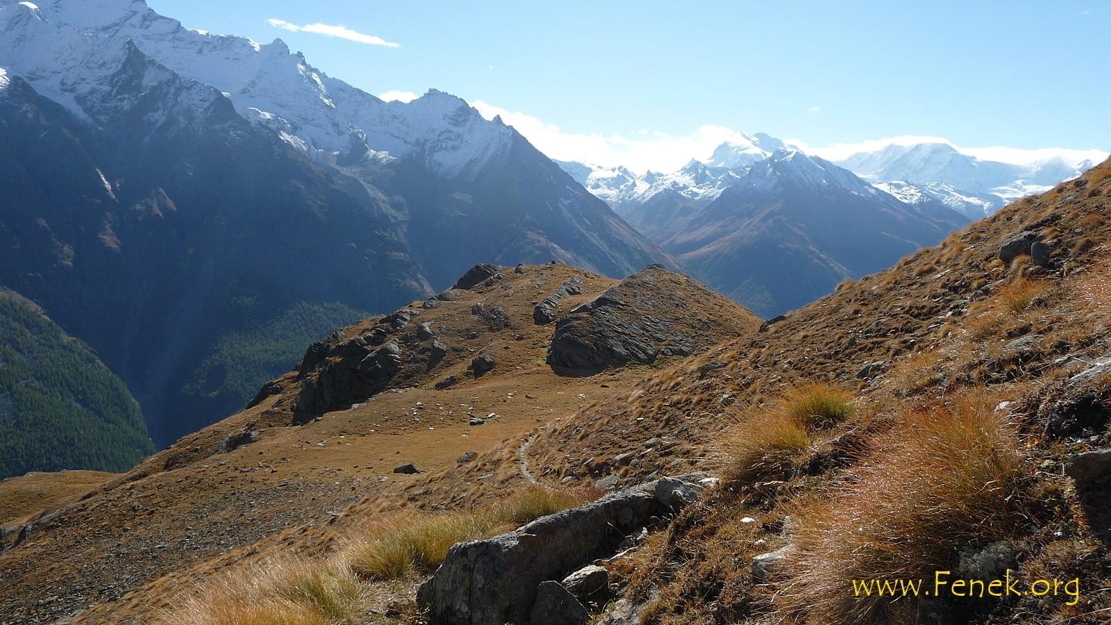 Blick zur Monte Rosa
