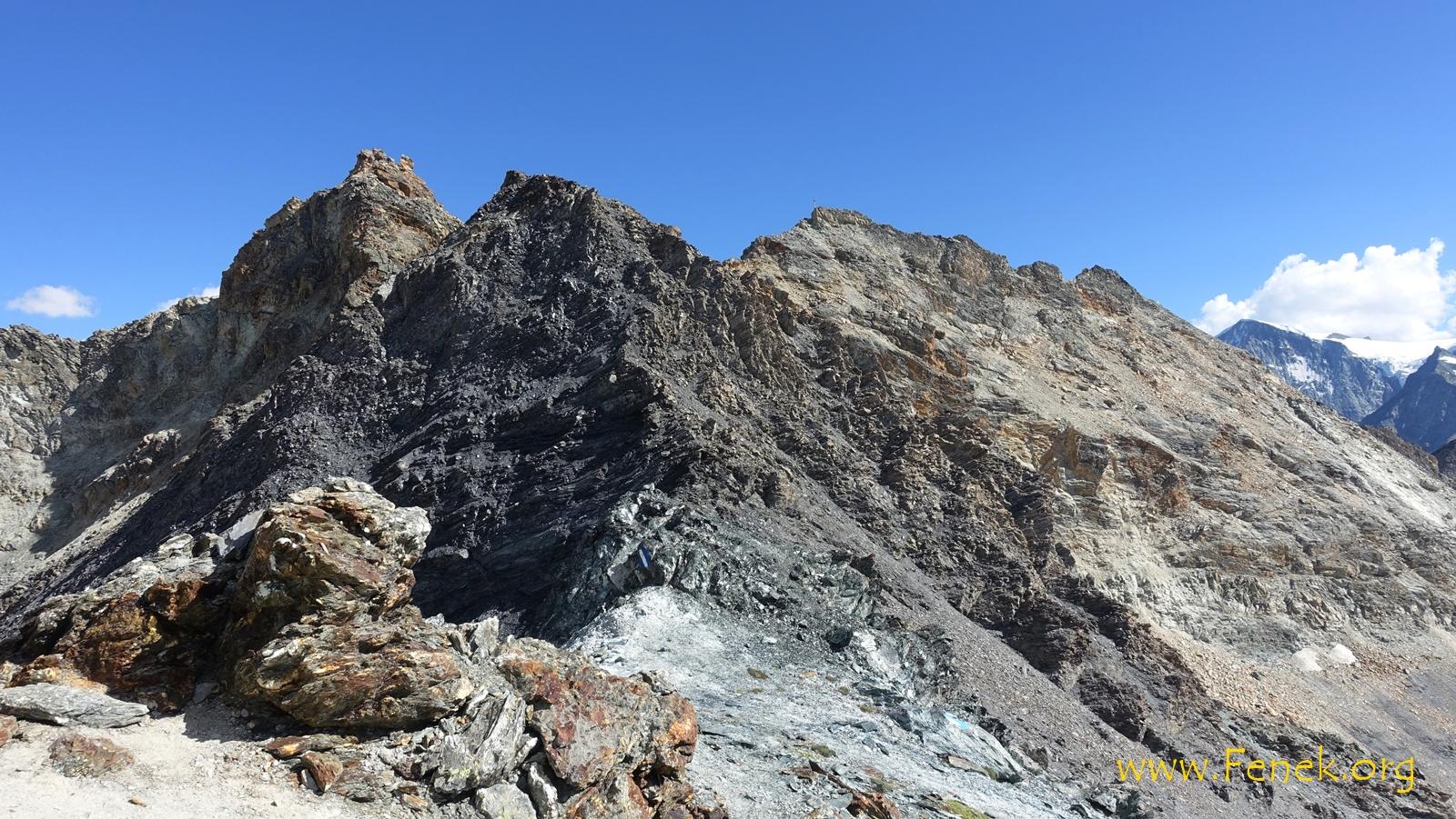 Rückblick auf die beiden Gipfel vom Col des Ignes
