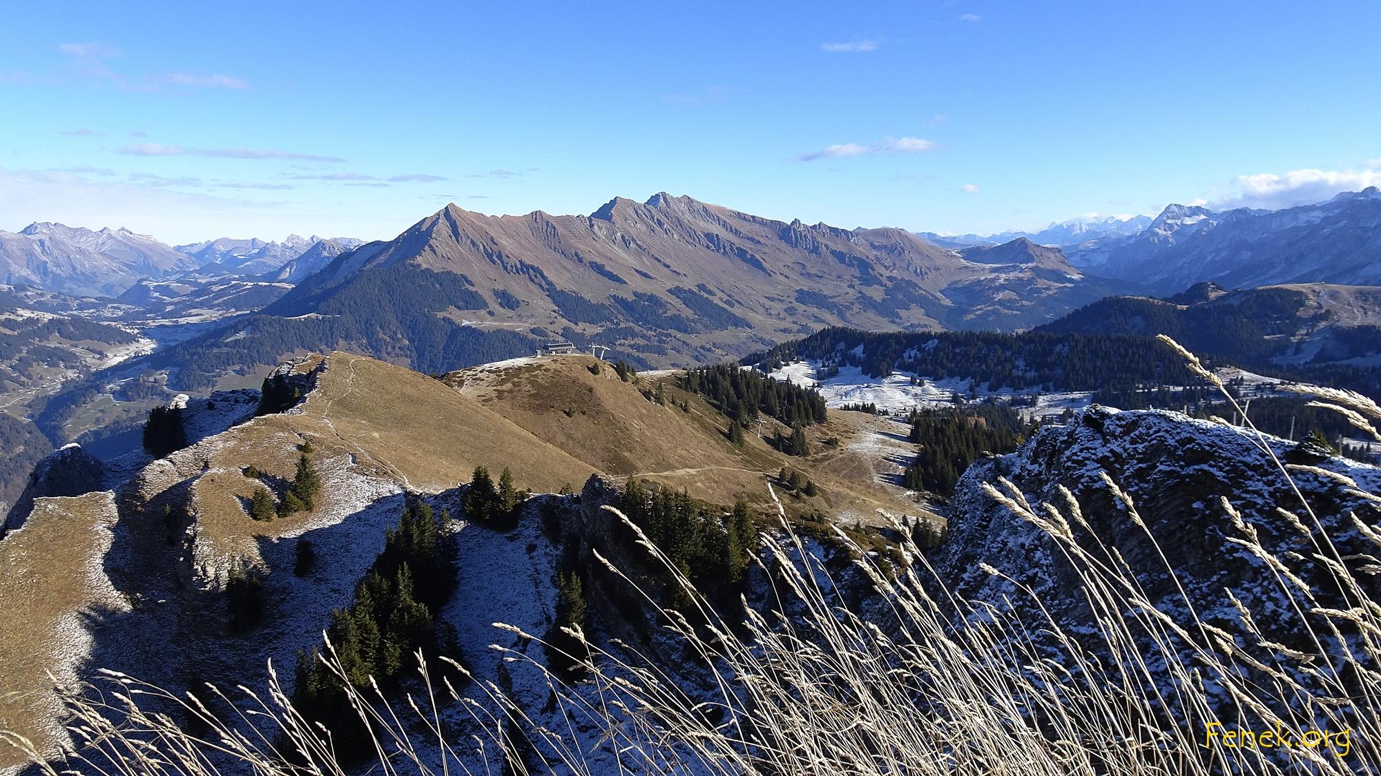 Gipfelkette von Pic Chaussy bis La Pare
