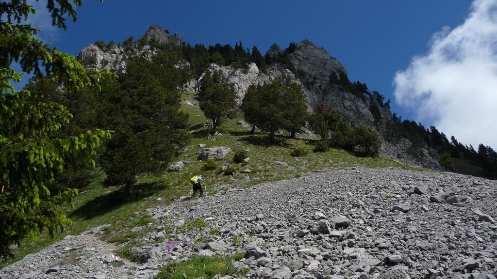 im Aufstieg zum Rocher du Midi