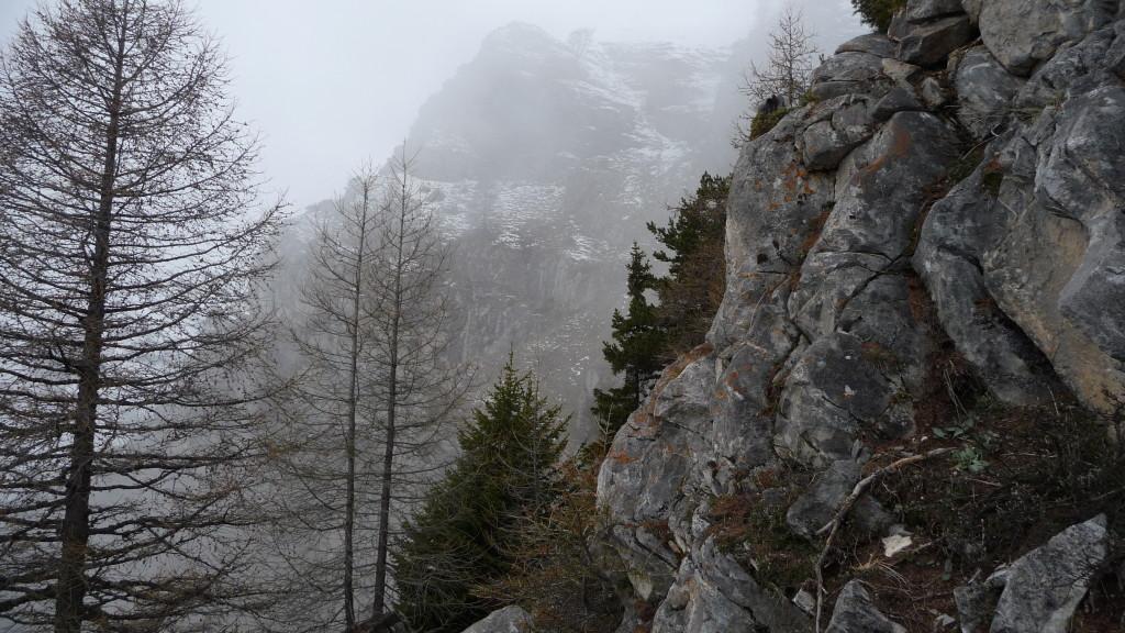 der Gipfel des Grand Garde wird sichtbar