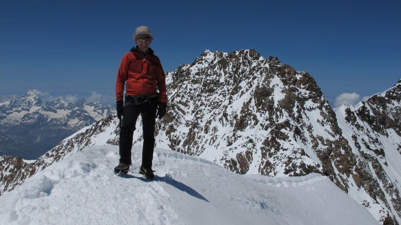auf der Zumsteinspitze - hinter mir Dufourspitze