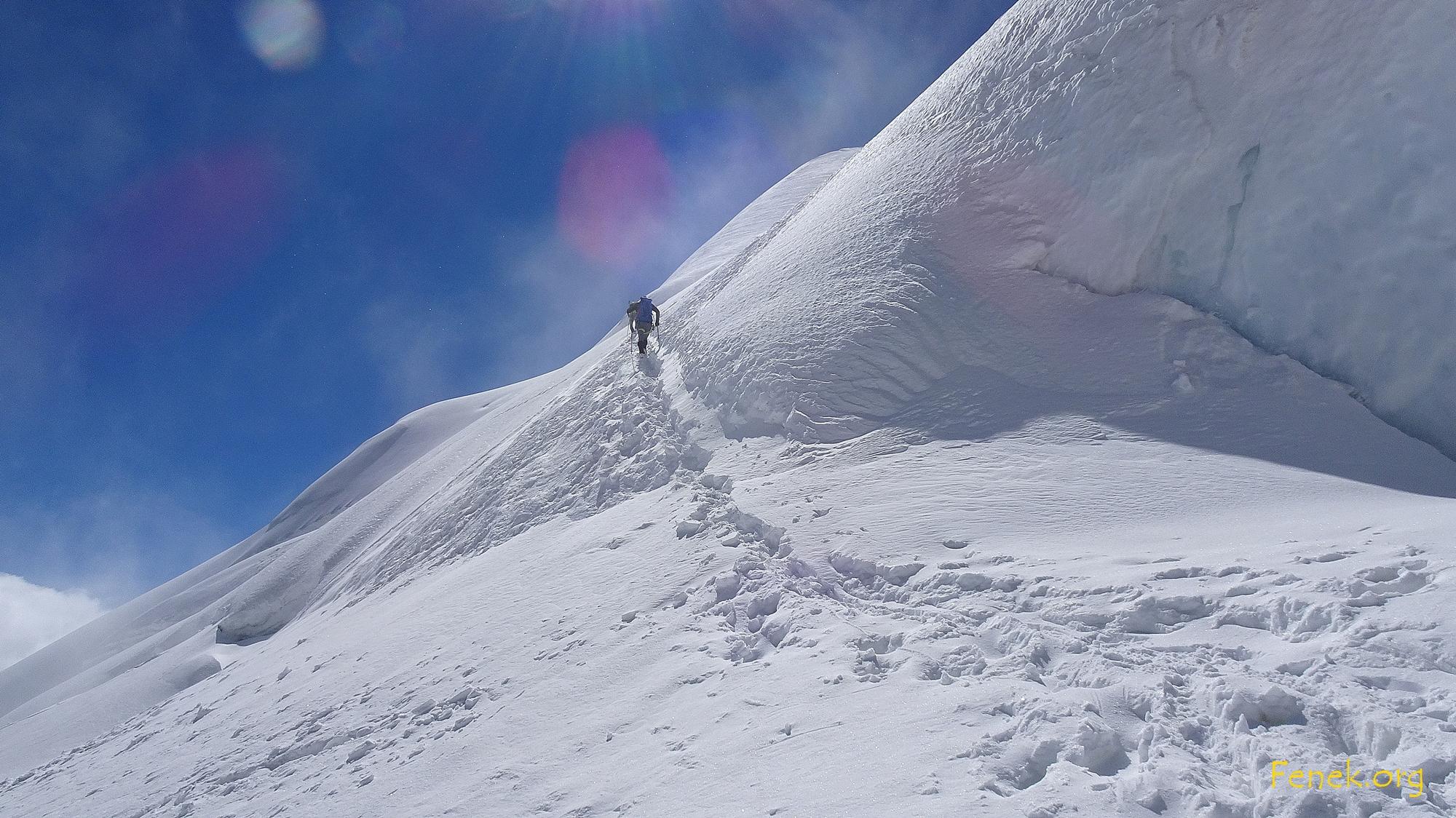 kurze steile Stufe