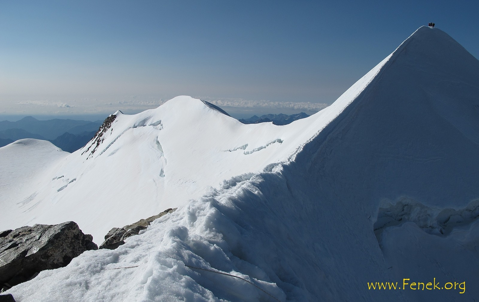 Gipfelgrat zum Castor