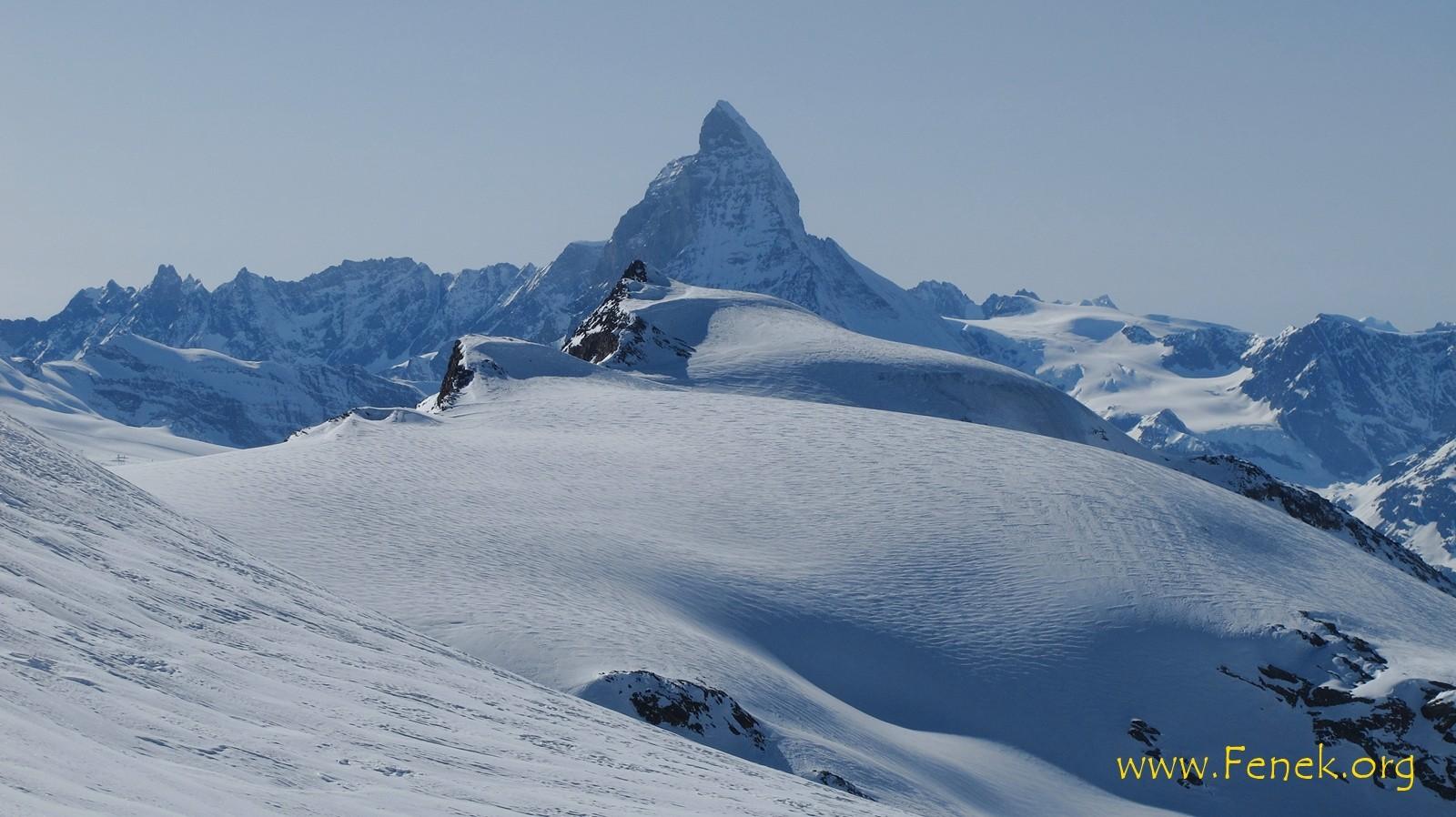 Matterhorn und davor Stockhorn