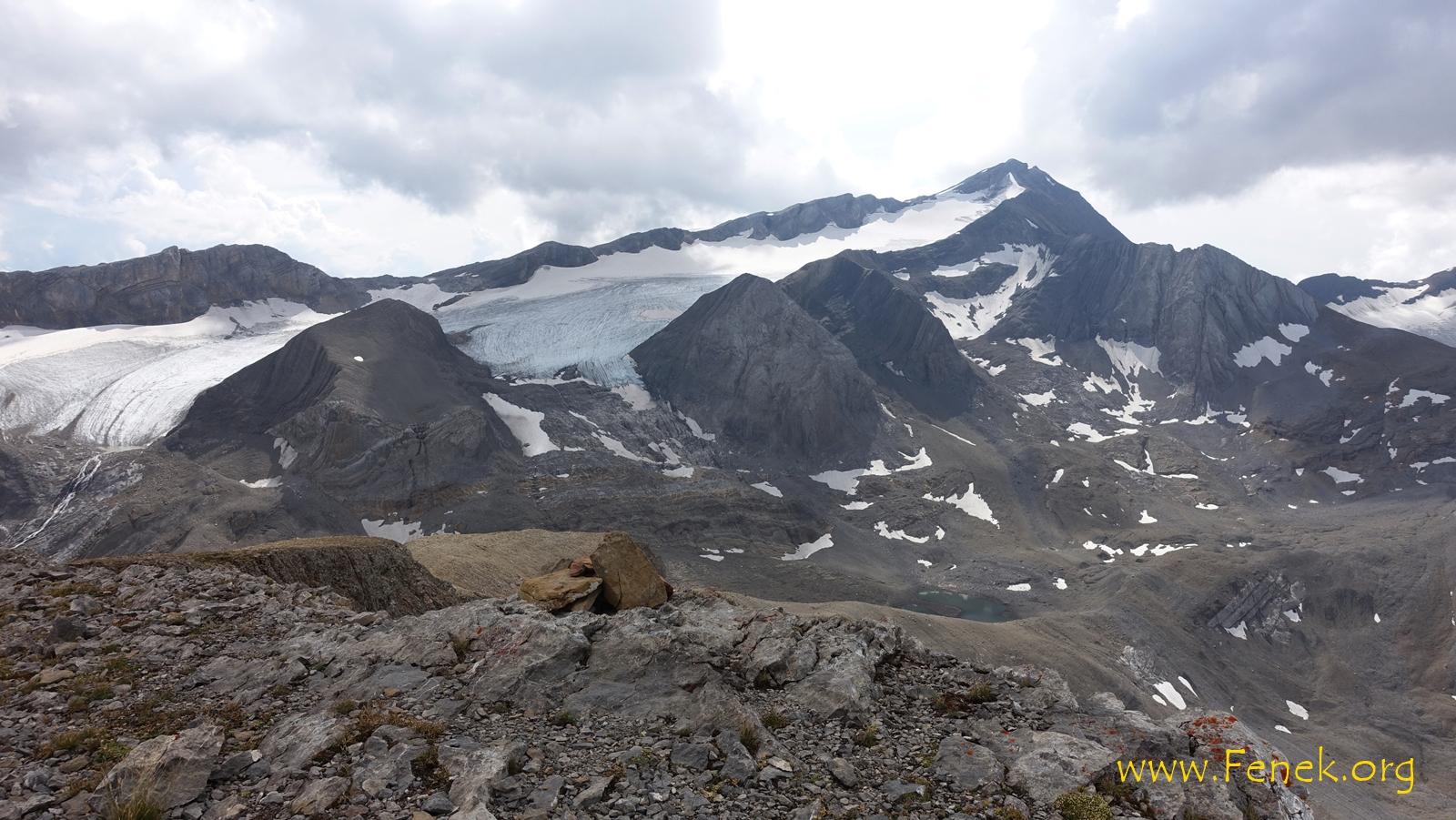 Gipfelauusicht zum Wildhorn
