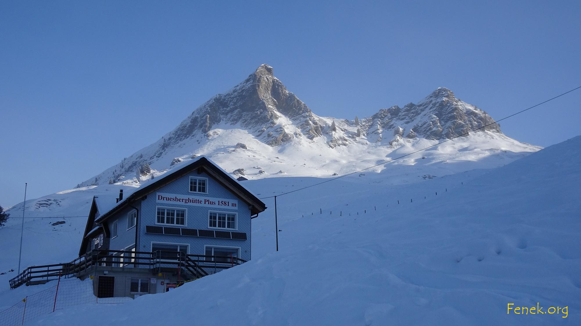 bei der Druesberghütte etwas blauer Himmel