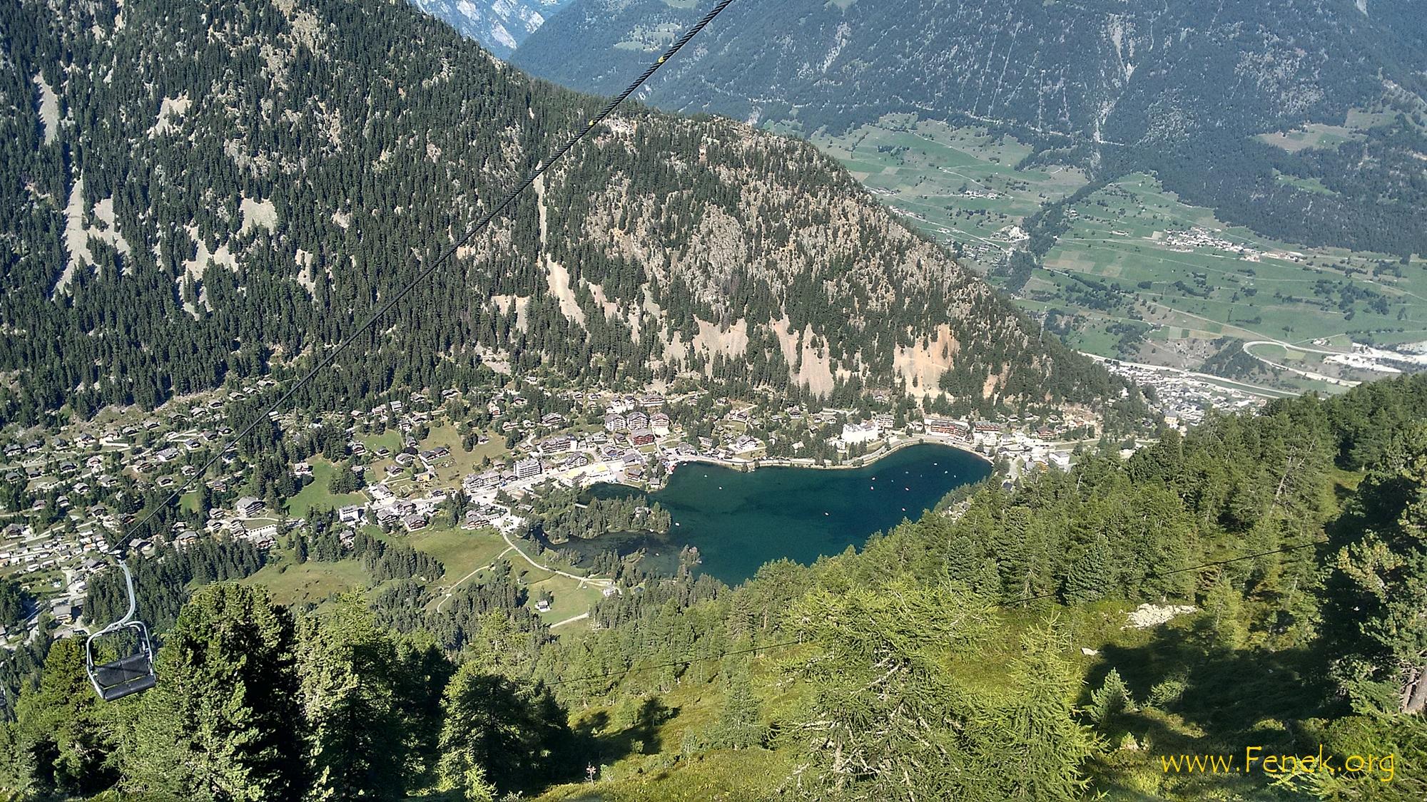 Blick nach Champex-Lac