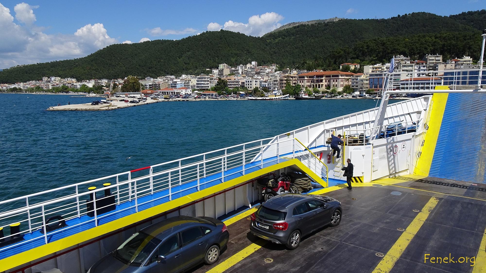 auf der Fähre nach Corfu