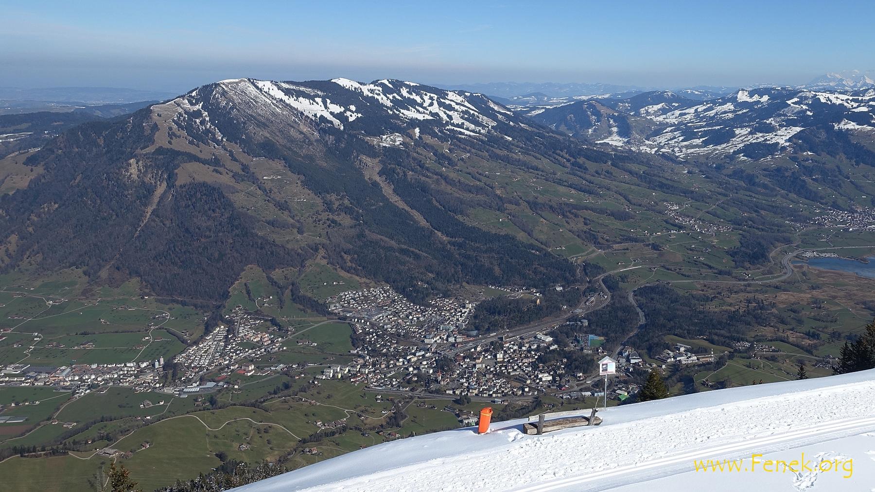 Arth Goldau und Wildspitz - höchster Gipfel Kt. Zug