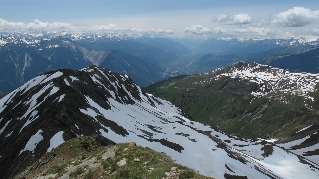 Südwestgrat und Rhonetal