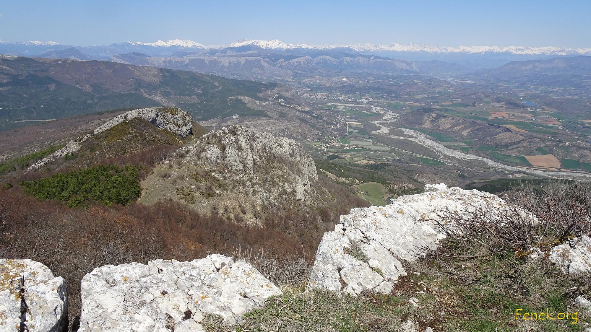 auf dem Sommet de la Platte mit Blick auf die besuchten Gipfel