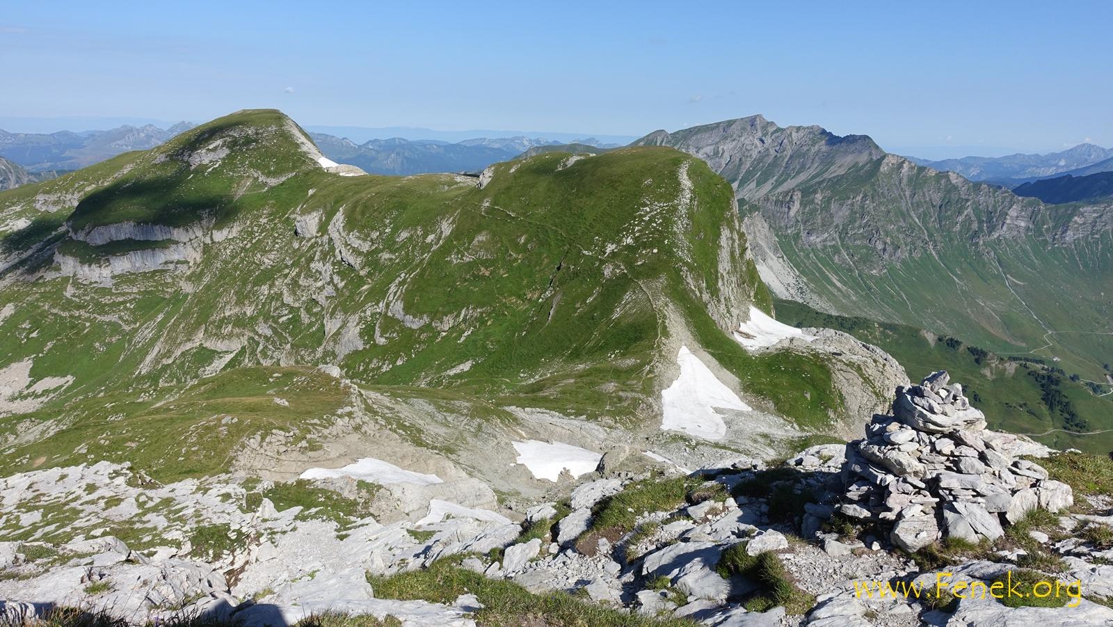 Rückblick zum Col de Bossetan