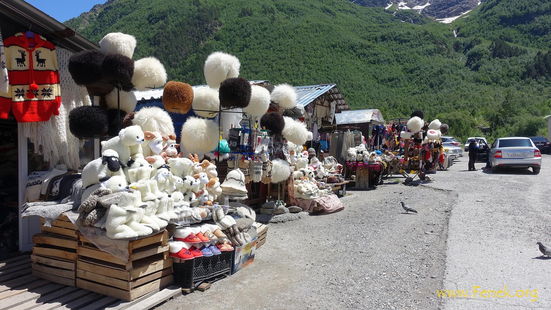Souvenirs der lokalen Handwerkerinnen
