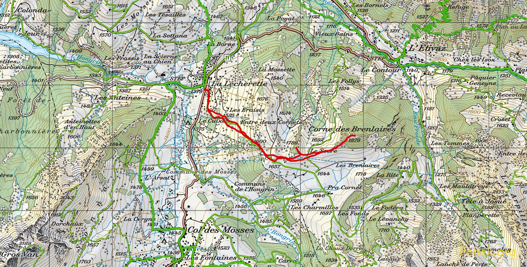 meine Route gemäss GPS Track