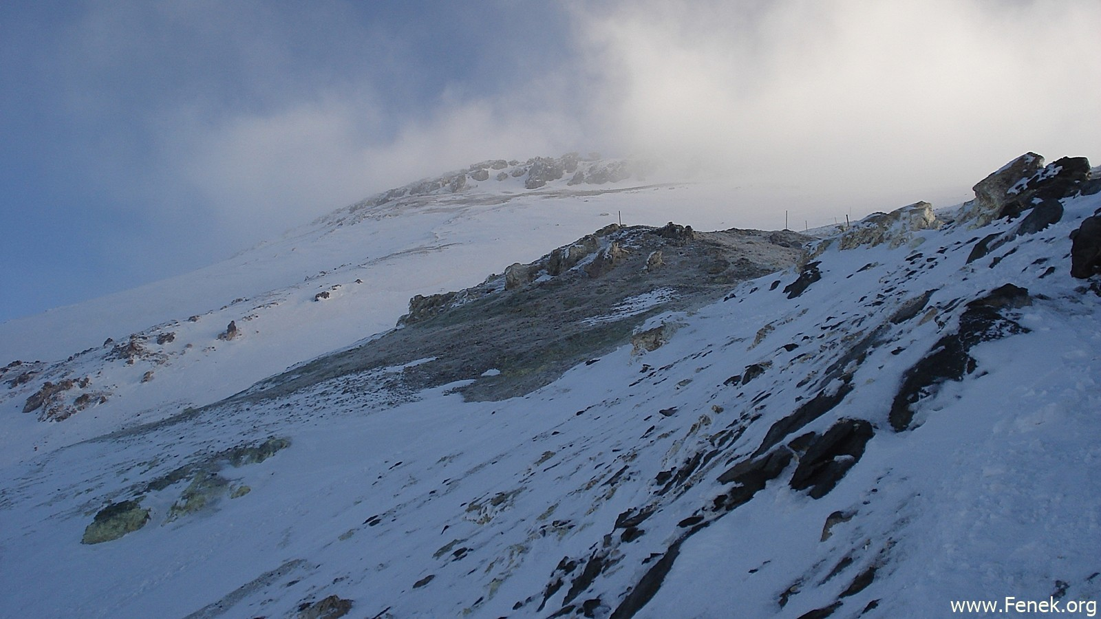 im Gipfelbereich
