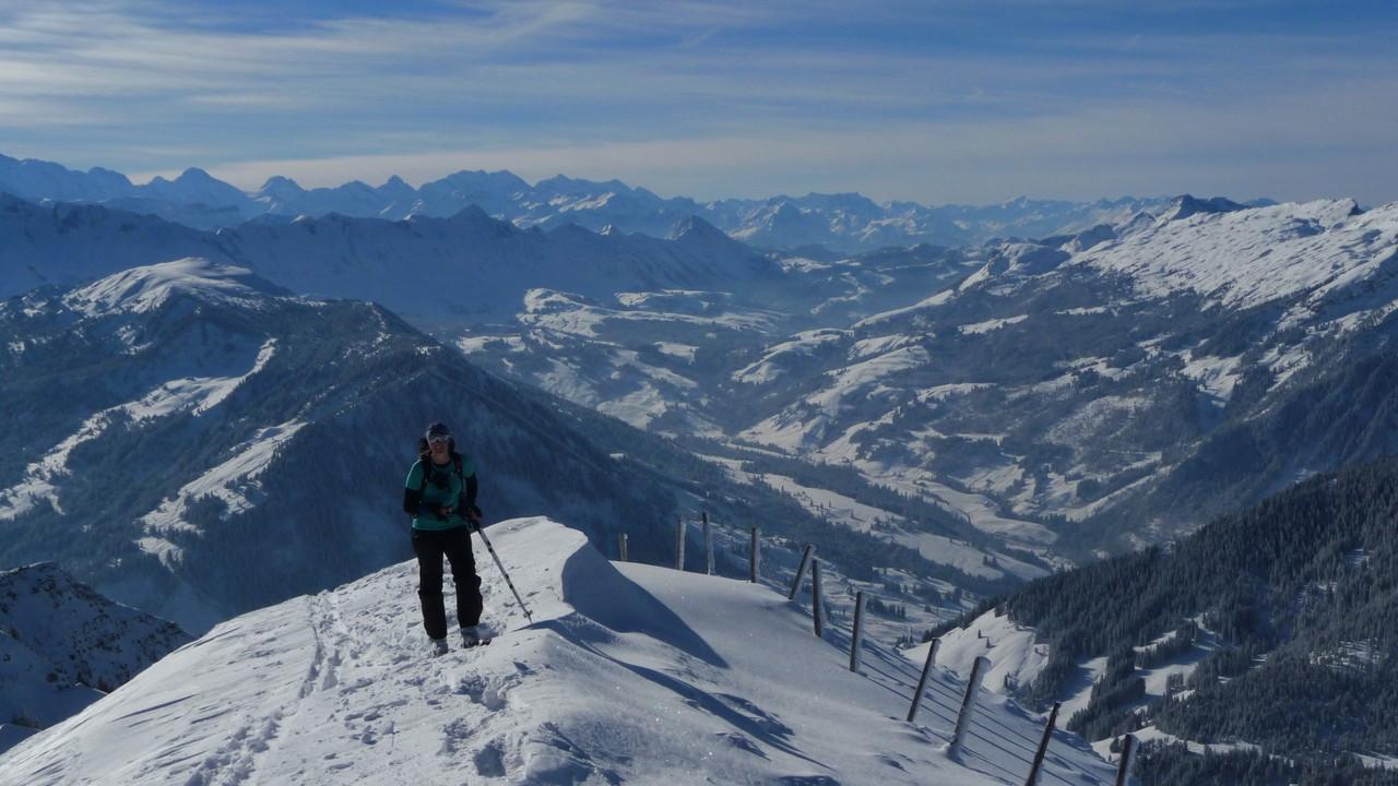 die letzten Meter am Gipfelgrat