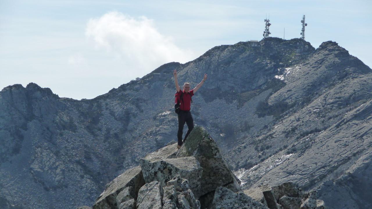 auf dem Nachbargipfel des Giove - im Hintergrund Monte Capanna