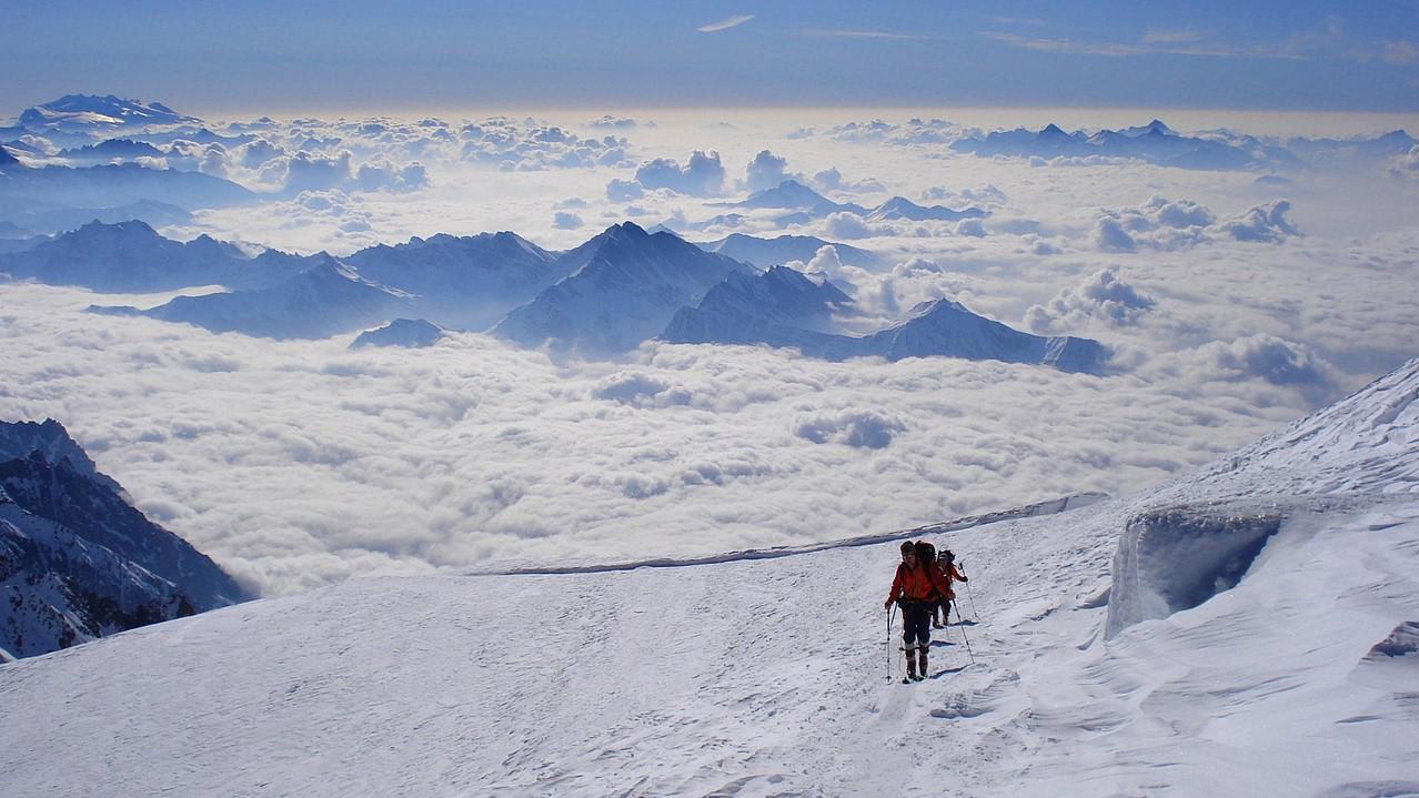 auf den letzten Metern zum Gipfel
