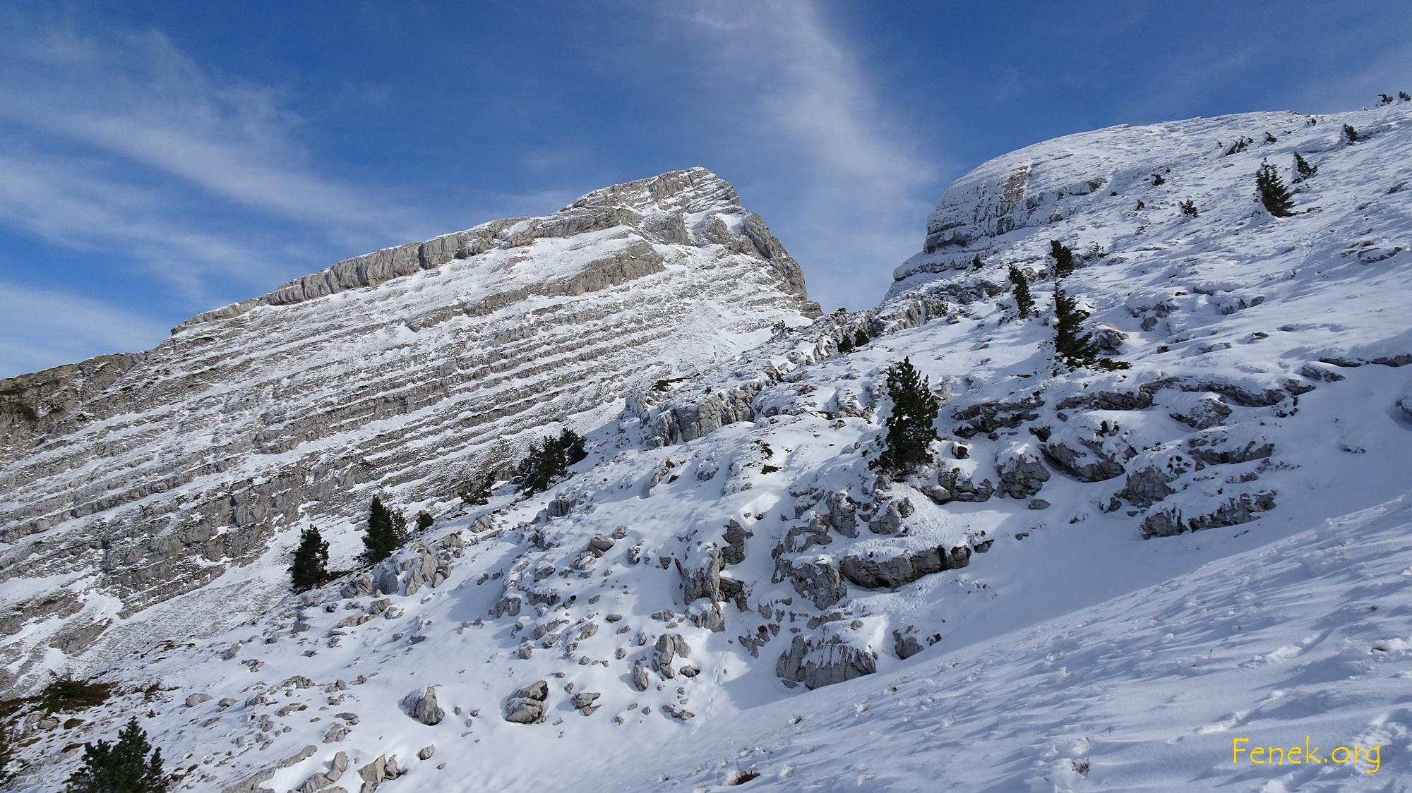 Nordseite der beiden Gipfel