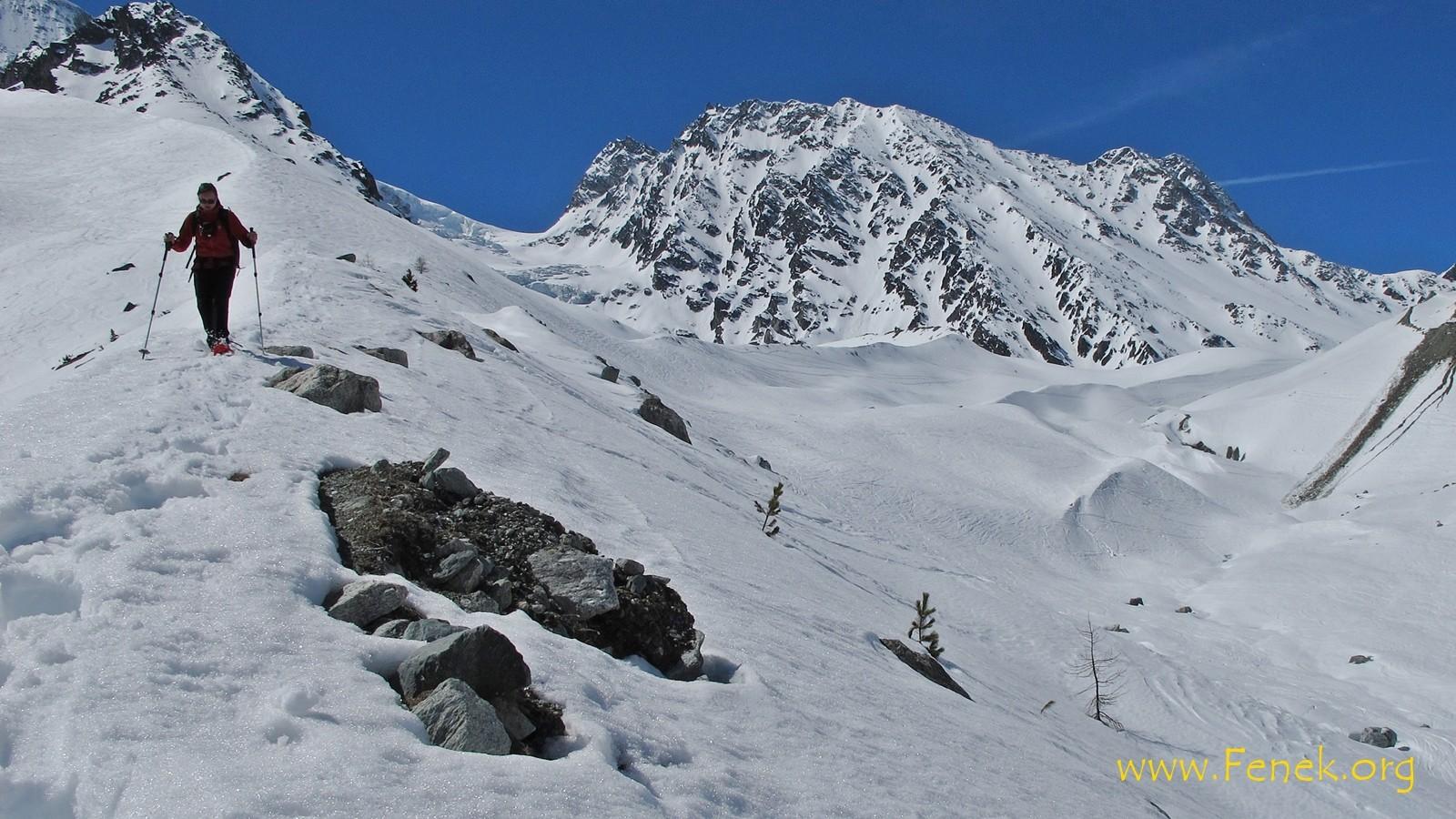 kurz vor Arolla im weichen Schnee....