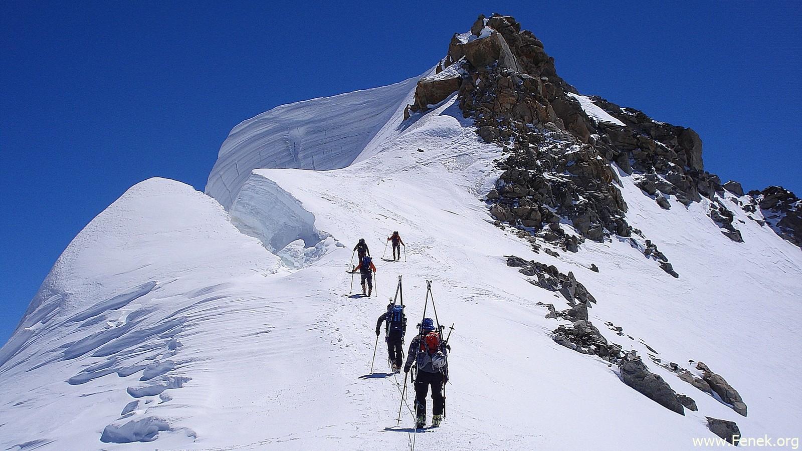 unter dem Mont Blanc du Tacul