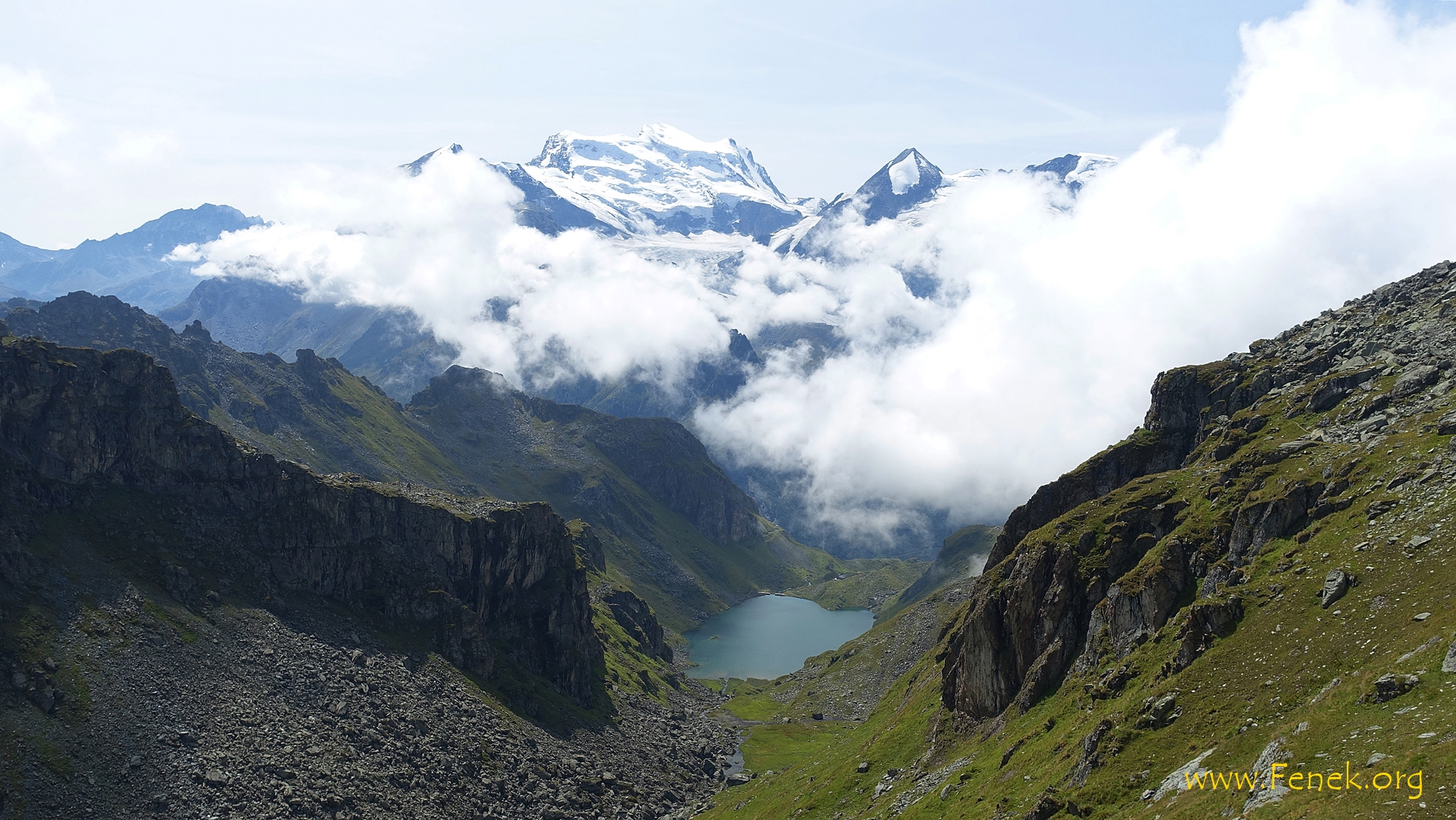 Lac de Louvie und Grand Combin
