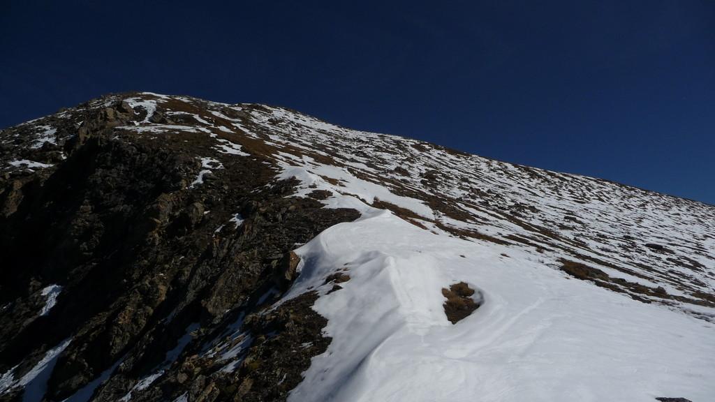 die letzten Meter auf den Gipfel vom Tôuno