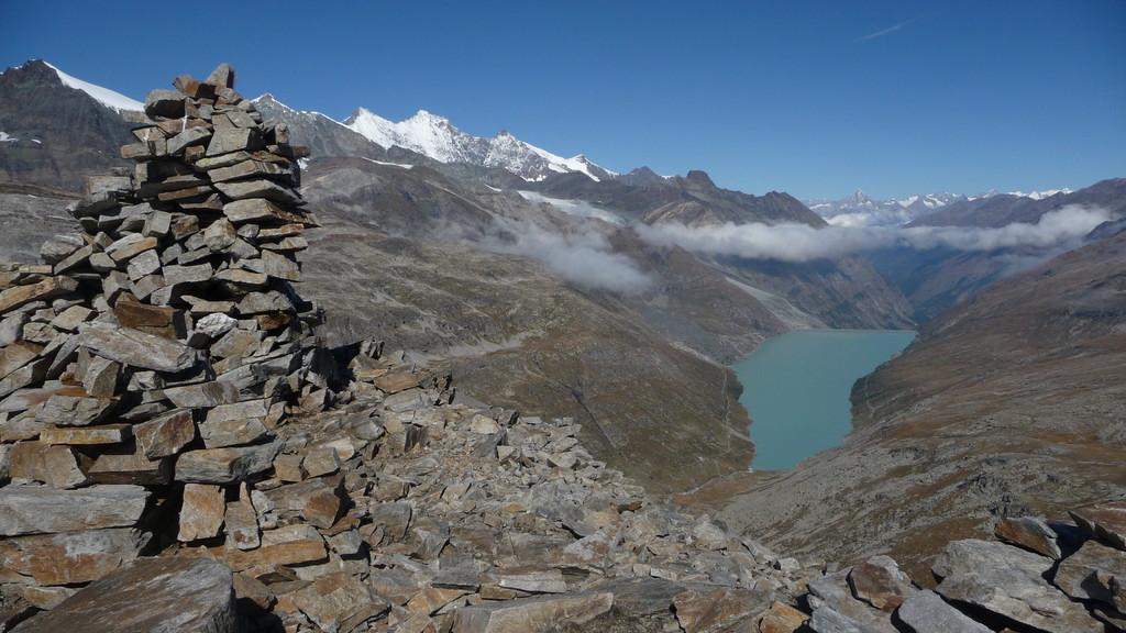 Gipfelsteinmann Monte Moro