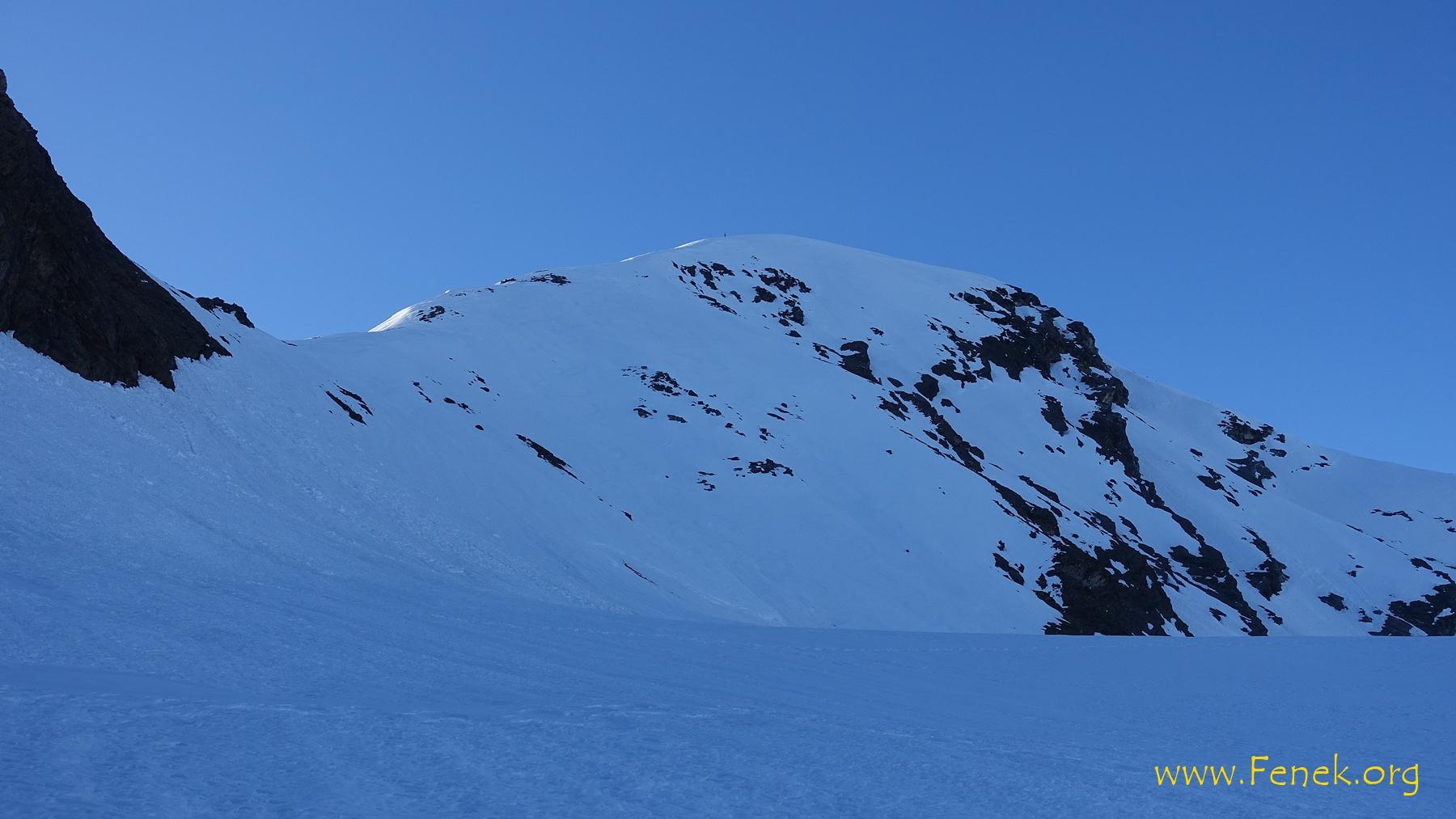 Steilhang und Nordgrat zum Gipfel