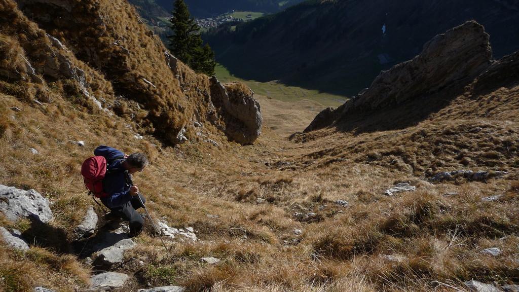 Abstieg... steil und gut begehbar