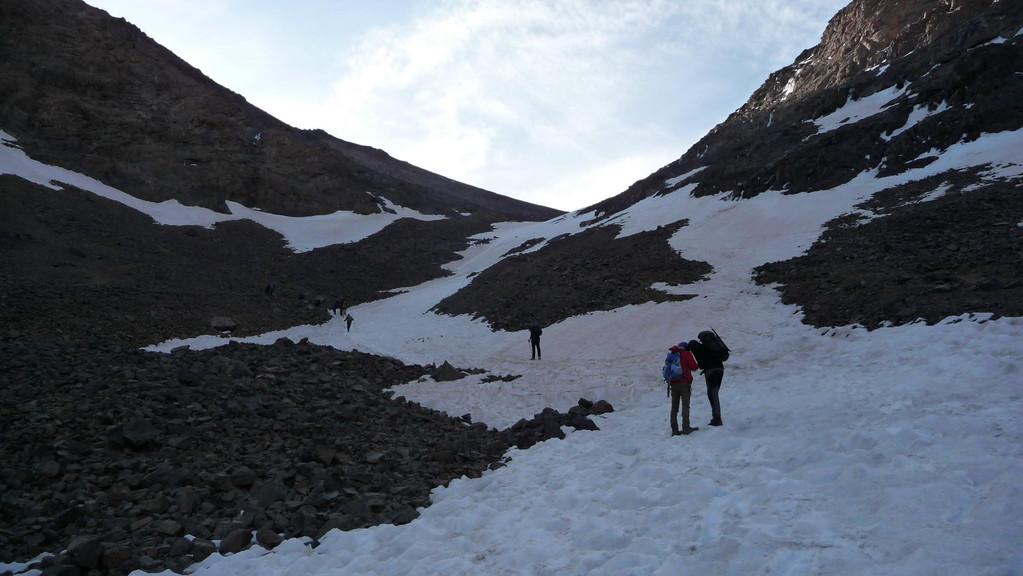 Altschneefelder - sie stören kaum