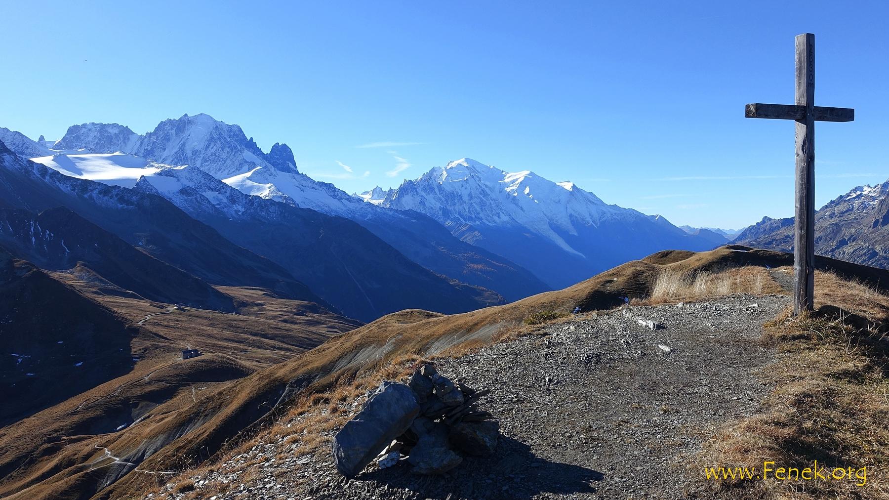 Gipfel Arolette und Mont Blanc