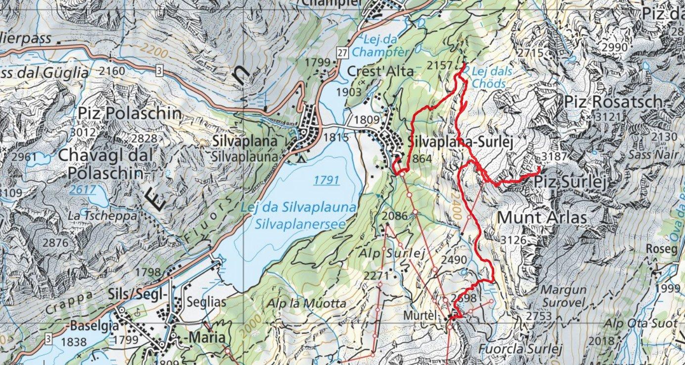 unsere Route gemäss GPS